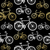 bike seamless pattern bicycle gold concept stock photo © cienpies