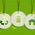hanging green environment sign icons labels set stock photo © cienpies
