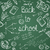 education icons back to school green chalkboard seamless pattern stock photo © cienpies