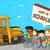 vissza · az · iskolába · oktatás · gyerekek · társasági · buborék · rajz - stock fotó © cienpies