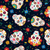 day of the dead floral skull pattern background stock photo © cienpies