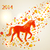 Multicolor Chinese New Year of horse 2014 background stock photo © cienpies