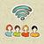 pessoas · grupo · rss · interação · diversidade - foto stock © cienpies