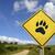 beer · voetafdruk · poot · silhouet · stijl - stockfoto © cienpies