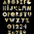 gold geometric abstract alphabet font typography stock photo © cienpies