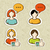 social media user profile button icons set stock photo © cienpies