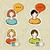felhasználó · szett · számítógép · felhasználók · jó · webdesign - stock fotó © cienpies