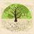 árvore · raízes · yin · yang · símbolo · silhueta · homem - foto stock © cienpies
