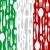 italian cuisine cutlery pattern on the country flag stock photo © cienpies