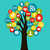 social media networks business tree stock photo © cienpies