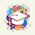 college graduation icon school concept color shape stock photo © cienpies