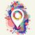 social · media · GPS · lokalizacja · pin · ikona · projektu - zdjęcia stock © cienpies