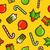 christmas · snoep · riet · icon · patroon - stockfoto © cienpies