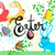 húsvét · üdvözlőlap · tojások · nyulak · dekoratív · kézzel · rajzolt - stock fotó © cienpies