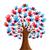 isolato · diversità · albero · mani · illustrazione · vettore - foto d'archivio © cienpies