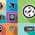 reizen · vliegtuig · illustratie · ontwerp · eps10 · vector - stockfoto © cienpies