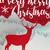 merry christmas winter paper cut art deer card stock photo © cienpies
