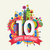 happy birthday 10 year greeting card poster color stock photo © cienpies