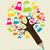 social · media · farbują · drzewo · ikona - zdjęcia stock © cienpies