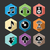 music flat icons set illustration stock photo © cienpies