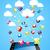 bulut · depolama · parlak · uygulaması · simgeler · uygulamaları - stok fotoğraf © cienpies
