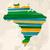 colorido · Brasil · mapa · capitales · pintura · cultura - foto stock © cienpies
