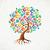 terug · naar · school · boom · onderwijs · iconen · vector · papier - stockfoto © cienpies