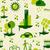 zielone · miasta · eco · ikona · ikona · kolekcja - zdjęcia stock © cienpies