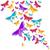 оригами · бабочка · изолированный · белый · цветок · аннотация - Сток-фото © cienpies