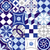 seamless pattern vintage blue tile decoration stock photo © cienpies