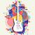 electric guitar icon concept music color shape stock photo © cienpies