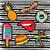 conjunto · bonitinho · desenho · animado · adesivo · projetos - foto stock © cienpies