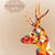 alegre · natal · colorido · rena · cartão · vintage - foto stock © cienpies