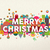 vrolijk · christmas · vierkante · vector · wenskaart · kerstman - stockfoto © cienpies