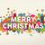 merry christmas colorful fun geometry environment stock photo © cienpies