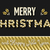 merry christmas and new year gold text design stock photo © cienpies