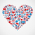 us elections icons heart shape stock photo © cienpies