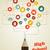 50 · médias · sociaux · bulle · icônes · blanche · ordinateur - photo stock © cienpies