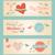 レトロな · かわいい · 幸せな母の日 · バナー · セット · ヴィンテージ - ストックフォト © cienpies