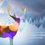 merry christmas bokeh deer paper cut forest card stock photo © cienpies