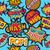 pop art cartoon patch icon seamless pattern stock photo © cienpies