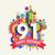 gelukkige · verjaardag · jaar · wenskaart · poster · kleur · een - stockfoto © cienpies