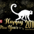 chinese new year 2016 silhouette gold text stock photo © cienpies