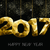 gold new year 2017 greeting card quote in low poly stock photo © cienpies