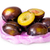 whole and half violet plums in plastic bag stock photo © cipariss