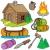 cartoon · obozu · ognia · drewna · projektu · kolor - zdjęcia stock © clairev