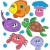 cute marine animals collection stock photo © clairev