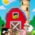 Big red barn with farm animals stock photo © clairev
