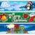 karácsony · bannerek · gyűjtemény · négy · bézs · terv - stock fotó © clairev