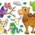 camelo · deserto · ilustração · grupo · caminhada · céu - foto stock © clairev